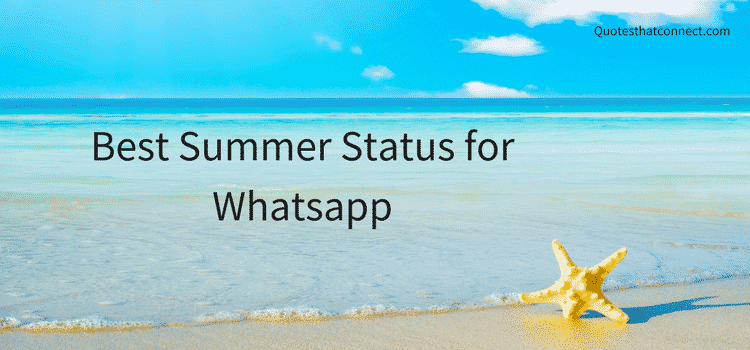Best Summer Status for Whatsapp