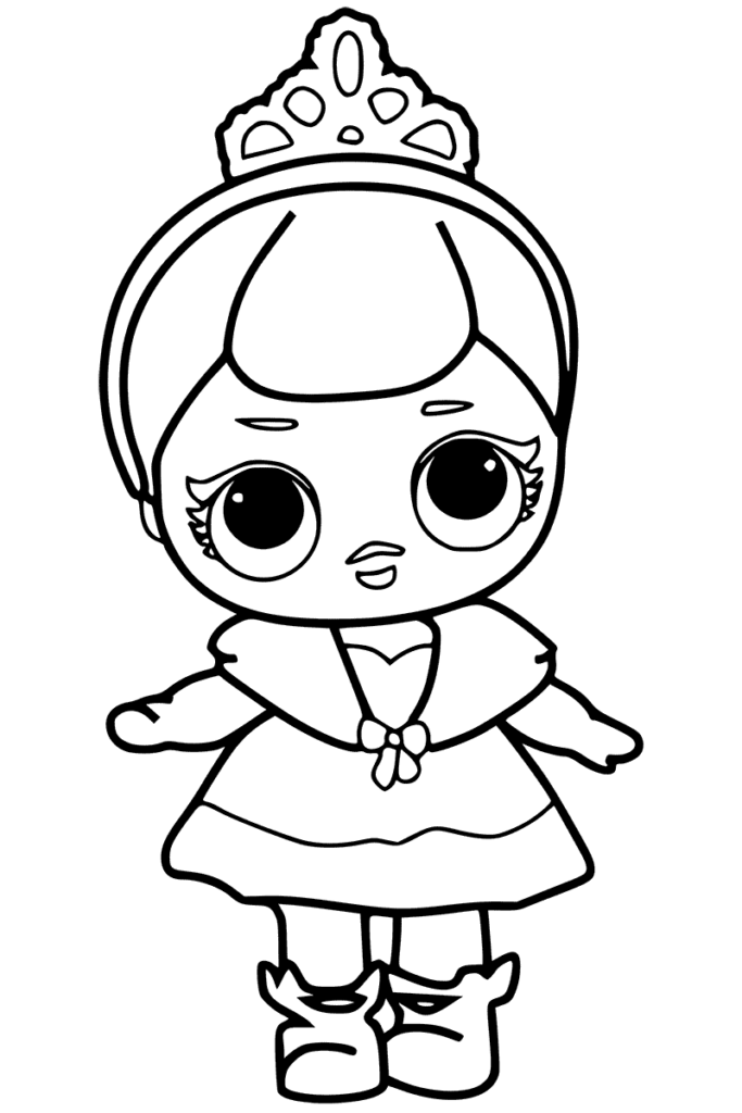 Cute Coloring Page for girls