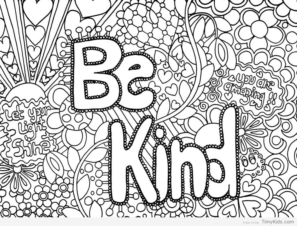 Free Printable Cute Coloring Pages For Girls Quotes That Connect
